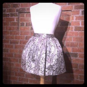 Honey Punch Metallic Cupcake Pleated Mini Skirt